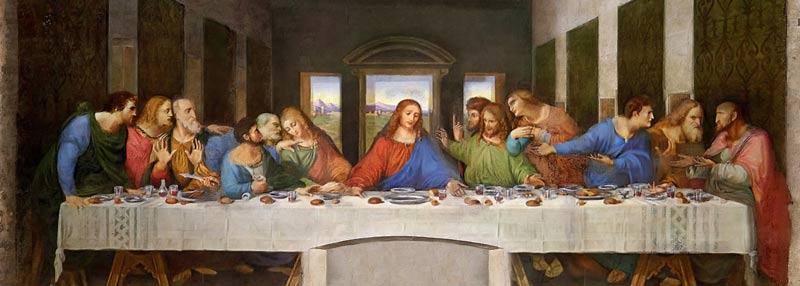 The Last Supper of Jesus Christ from Da Vinci