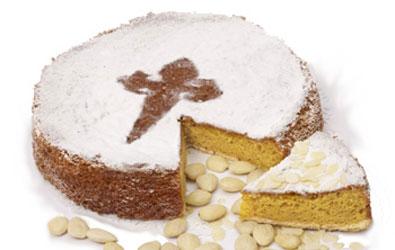 The most typical dessert from Santiago de Compostela - la Tarta de Santiago