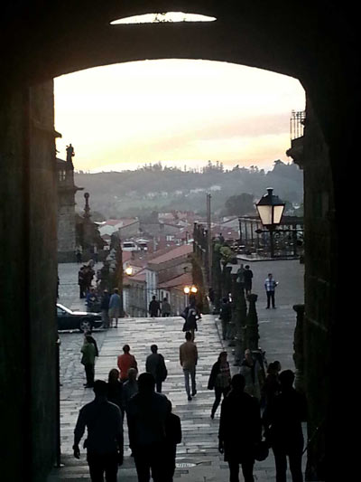 View of the Archway from the Azabacheria square to the Obradoiro