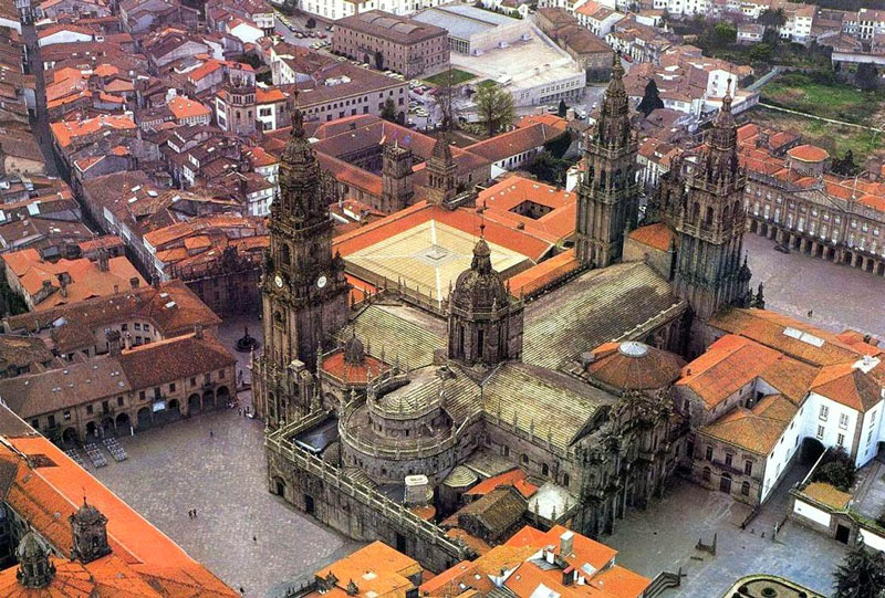 The Cathedral of Santiago from the Air