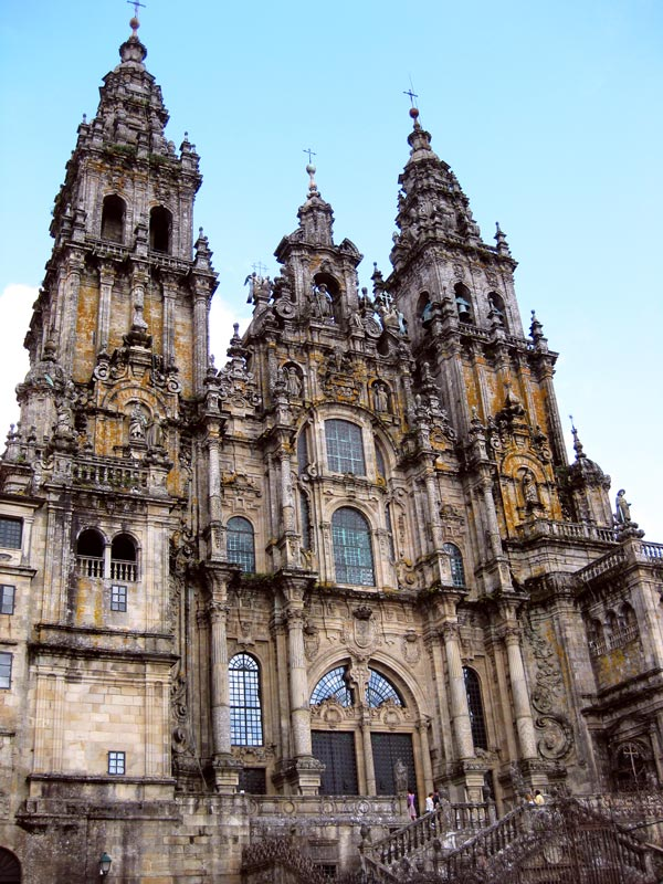 The Main facade of the Cathedral of Santiago de Compostela, El Portico de la Gloria