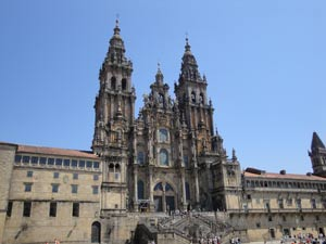 Modern day Cathedral of Santiago de Compostela where the Apostle Saint James rests