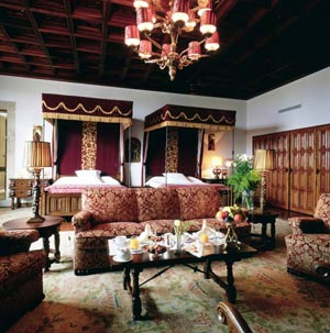 The Deluxe room in the Parador of Santiago de Compostela