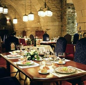 Dinner in the Parador of Santiago de Compostela