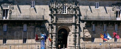 Facade of the Parador of Santiago de Compostela