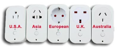 Different types of plugs - make sure you bring the right adaptor