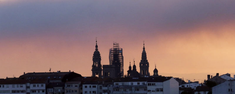 The Cathedral of Santiago de Compostela at sunset (Summer 2015)