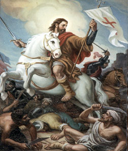 Santiago Matamoros during the battle of Clavijo