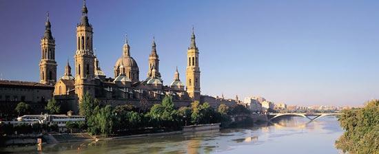 The Basilica of Nuestra Señora del Pilar in Zaragoza